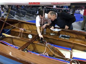 Being shown to the public by a member of the Harken staff team.