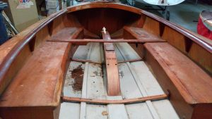Notice the hole in the hull on the port side. this was revealed when a piece of ply on the floor removed.